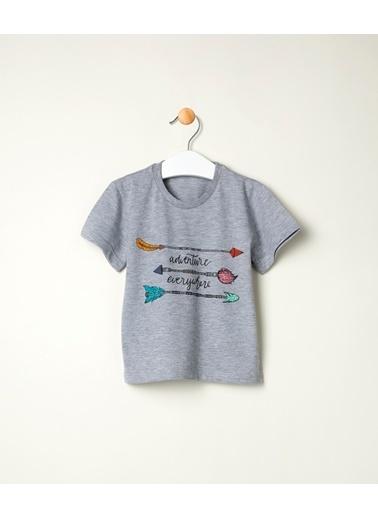 Pinolini Ok Baskılı Tişört Gri
